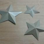 3D Sterne aus Papier