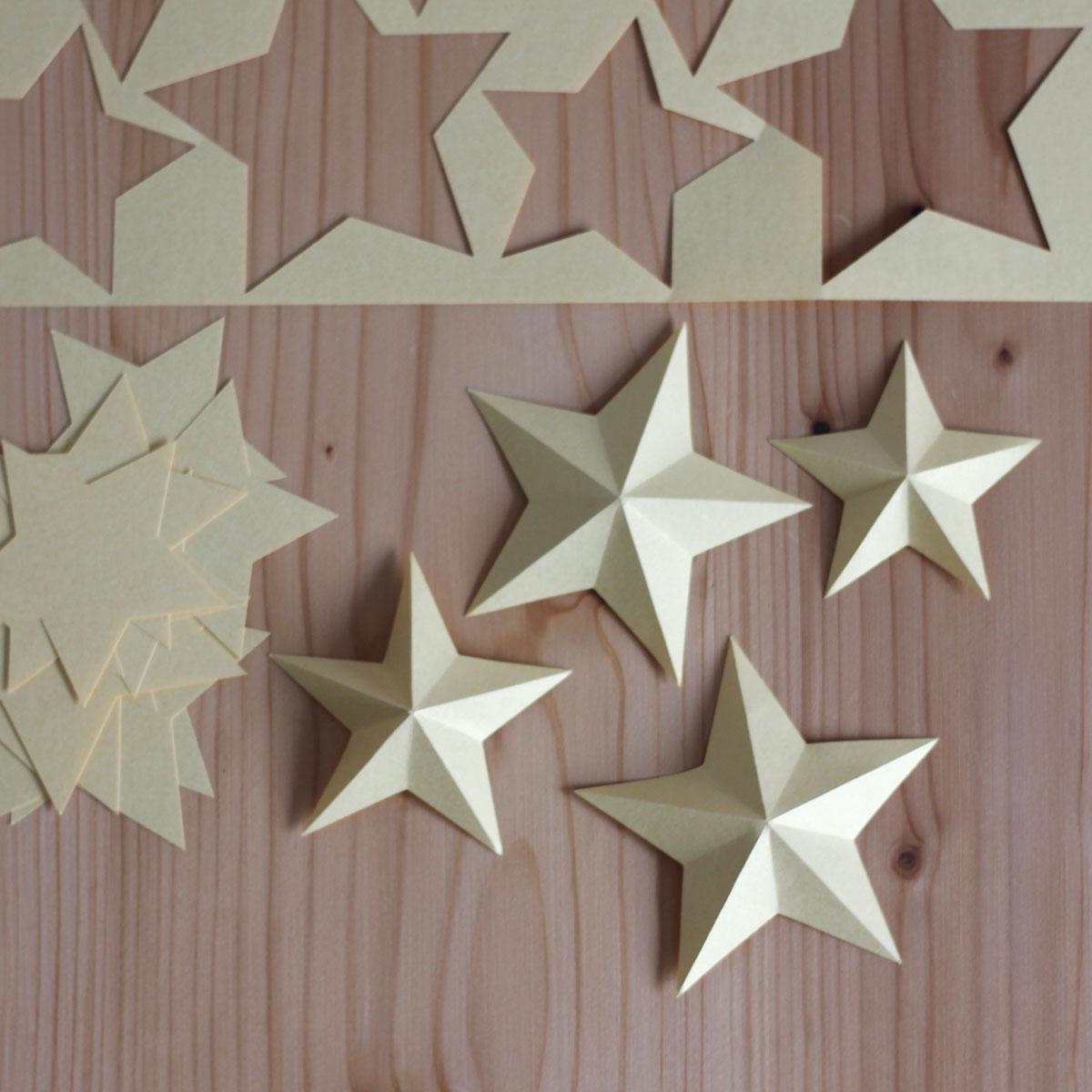 3D-Sterne - meine schnelle Weihnachtsdeko!