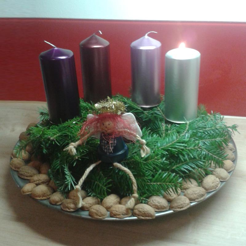 Adventskranz 2014