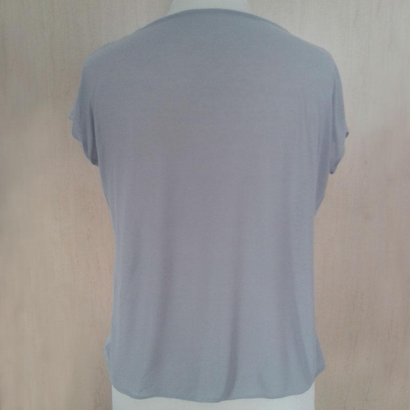 T-Shirt Wasserfall-Ausschnitt Rücken