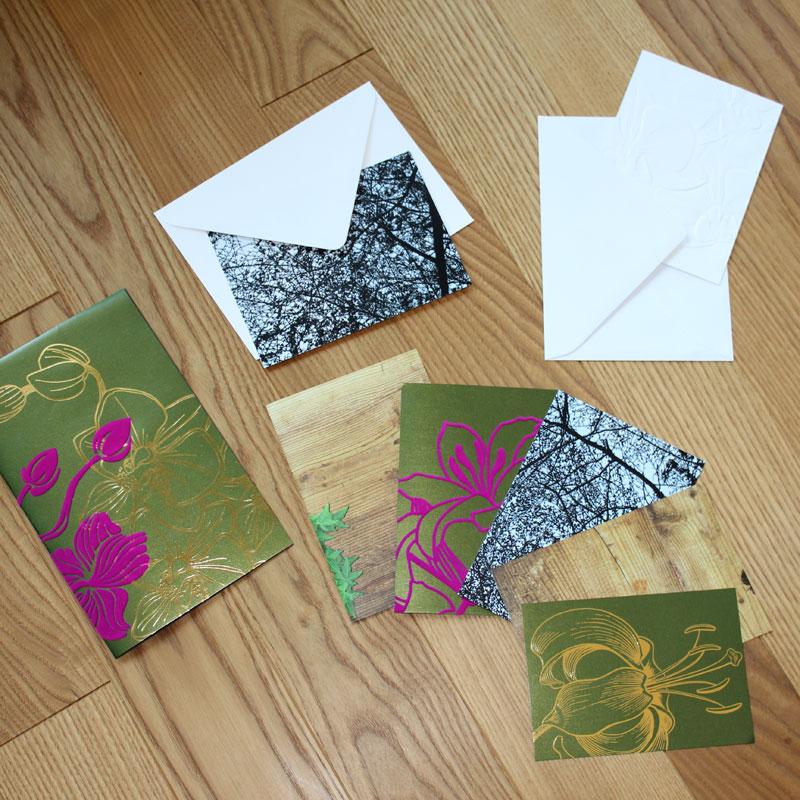 Recycling Glückwunschkarten aus alten Magazinen