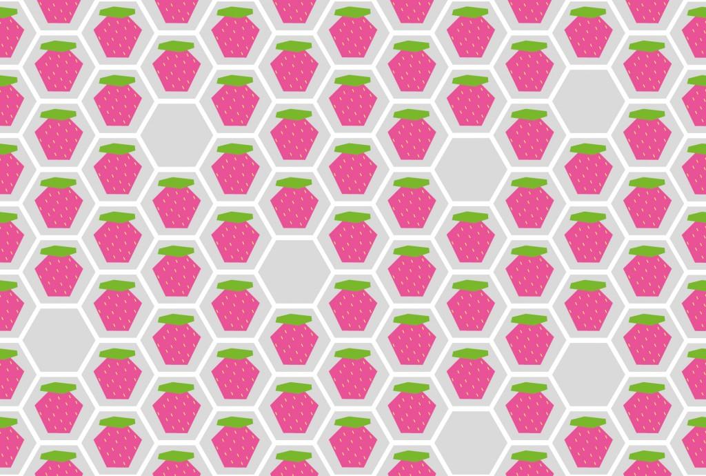 Muster-Erdbeere in pink