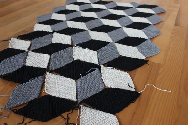 3D Geometrische Häkeldecke