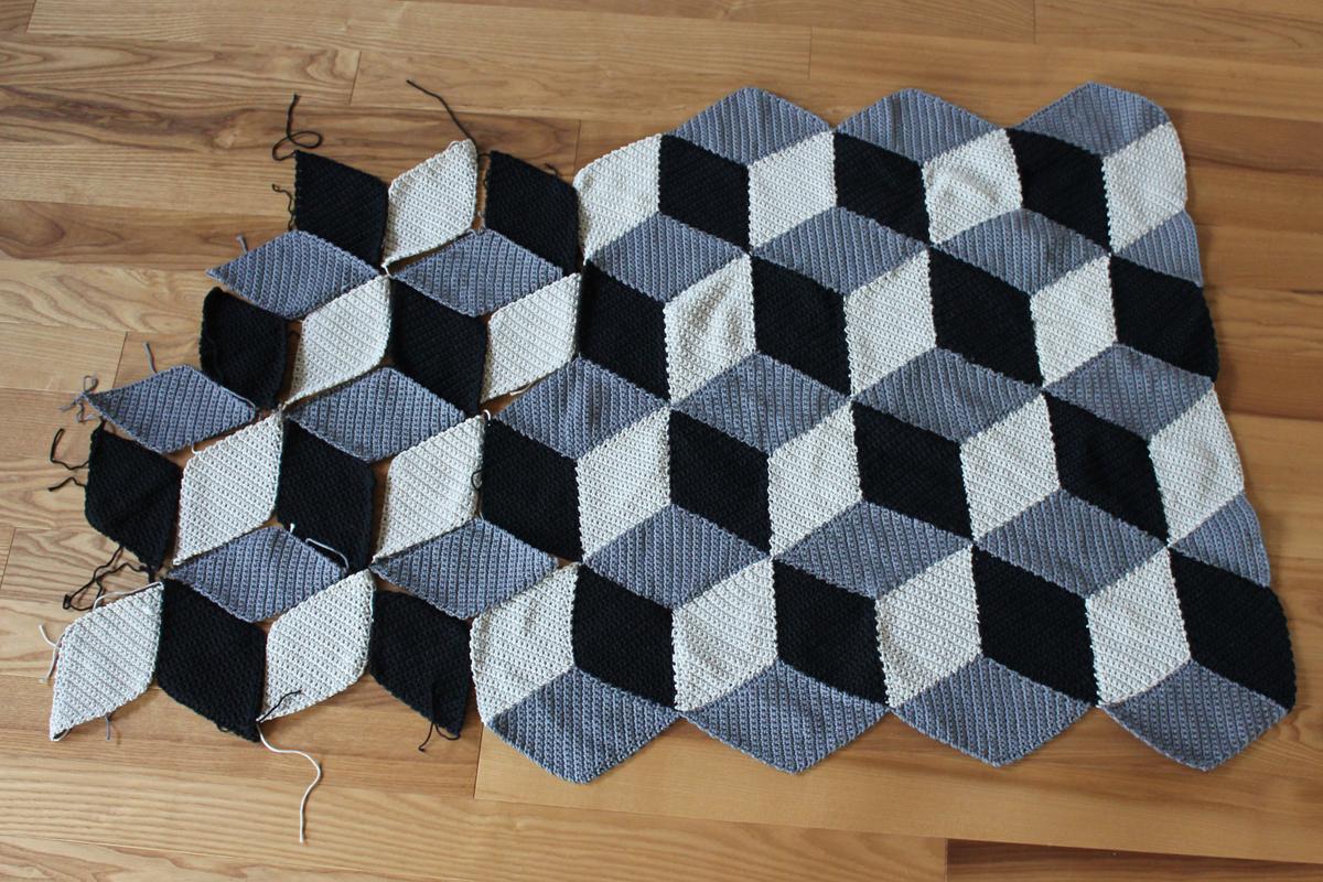 geometriche h keldecke mit 3d effekt mein september zwischenstand. Black Bedroom Furniture Sets. Home Design Ideas