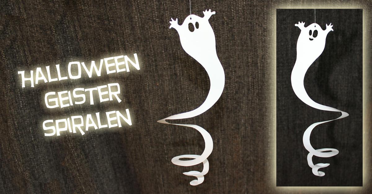 Halloween Geister-Spiralen {Freebie}