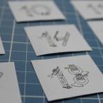 Musikalische Zahlen für Adventskalender {Free Printable}