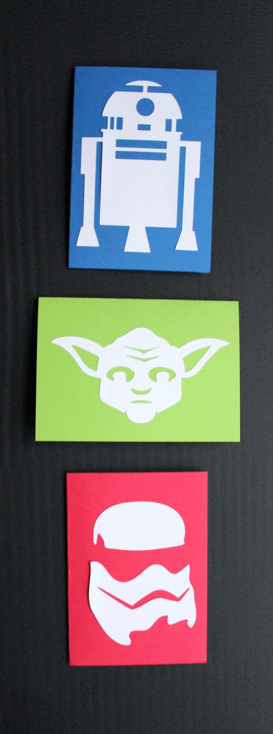 Einladungs- und Glückwunschkarten für große und kleine Star-Wars-Fans