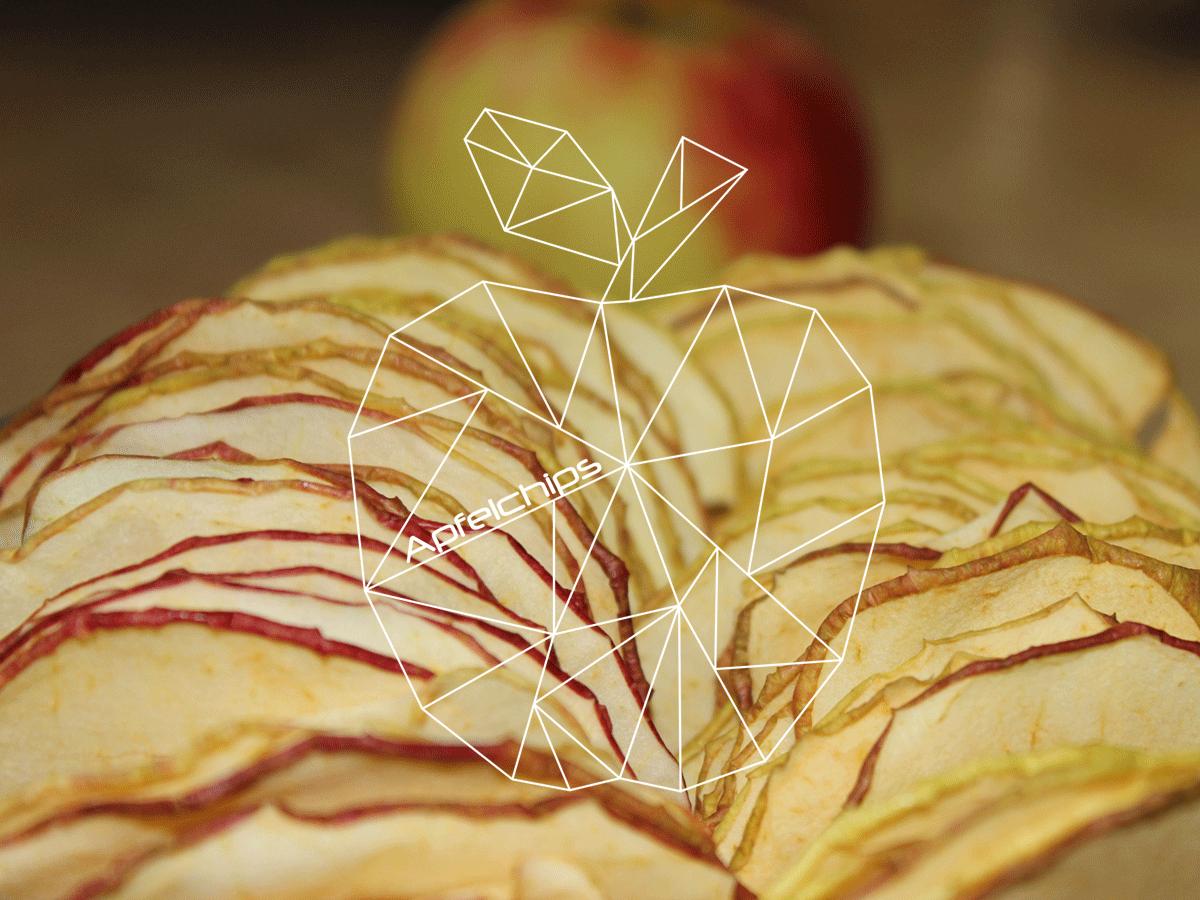 Apfelchips Rezept und Etikett