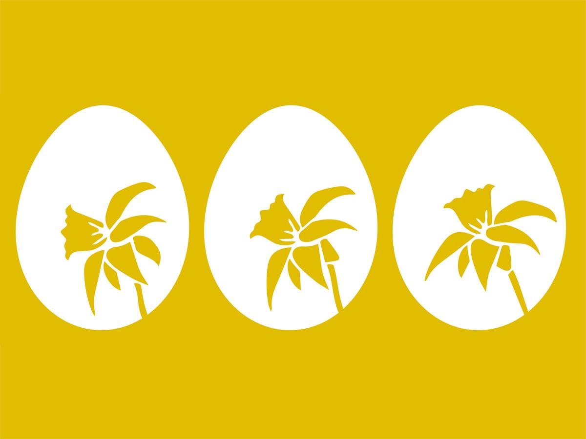 Plotter-Freebie: Vorlage Ostereier mit Narzisse