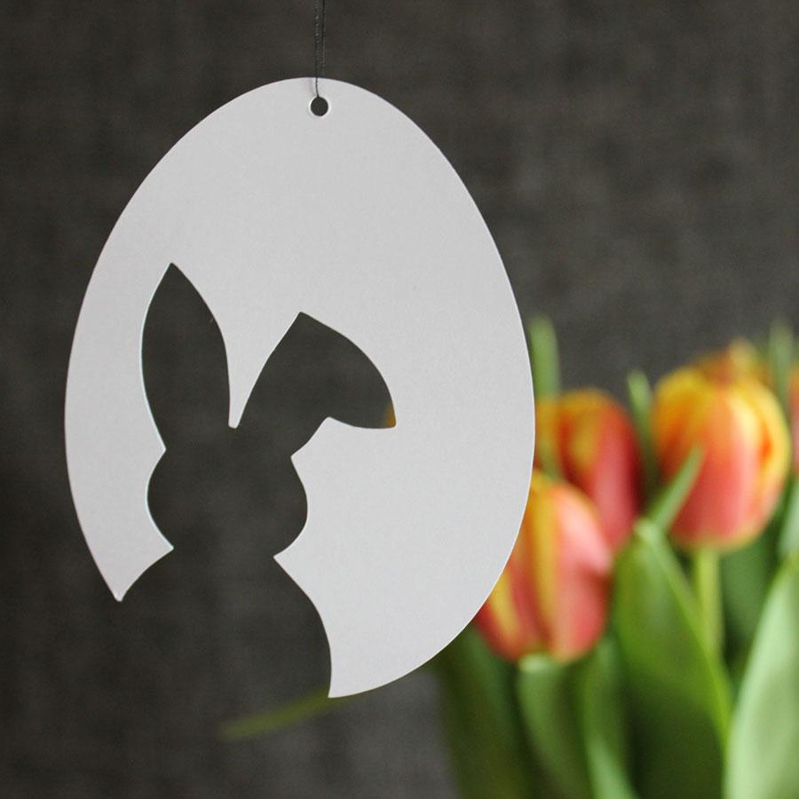 3 vorlagen f r schnelle schlichte osterdeko aus papier osterhase tulpe frohe ostern. Black Bedroom Furniture Sets. Home Design Ideas