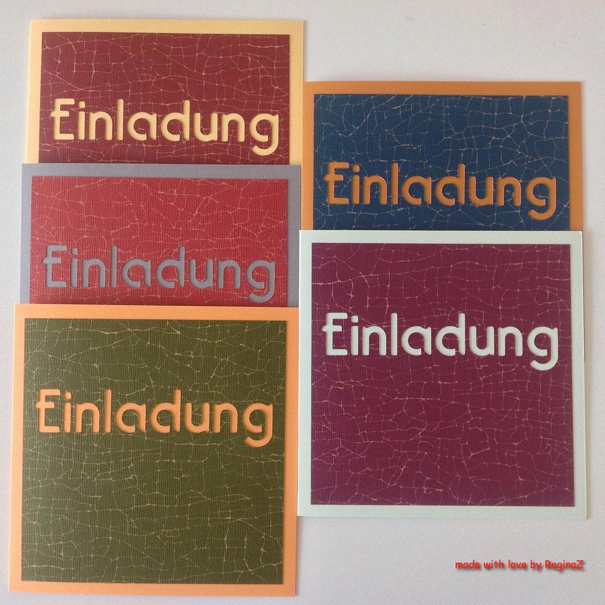 Einladungskarten von Regina Zurflüh