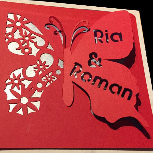 Glückwunschkarte zur Hochzeit von Nadine Ruggli