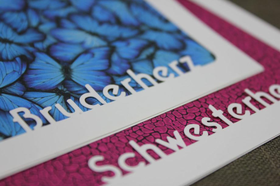 Schwesterherz & Bruderherz [Passepartout Plotterfreebie]