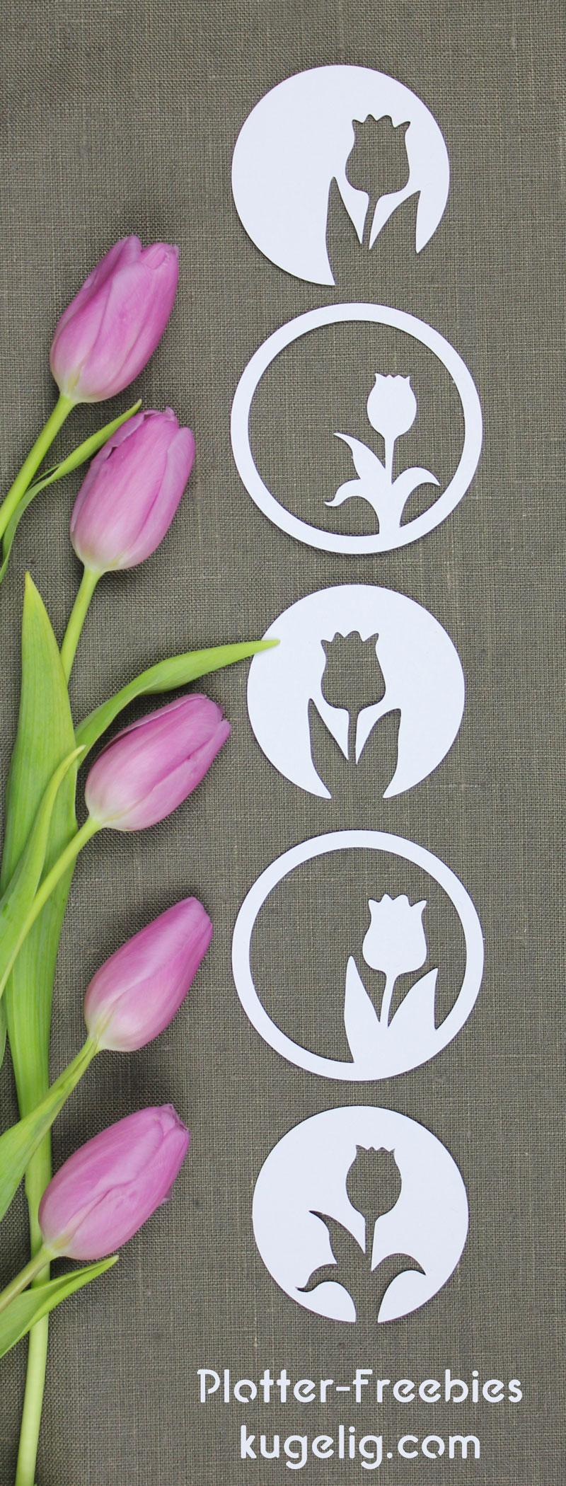 Geplottete Frühlings-Dekoration in meinem Stil: geometrisch & schnörkellos.