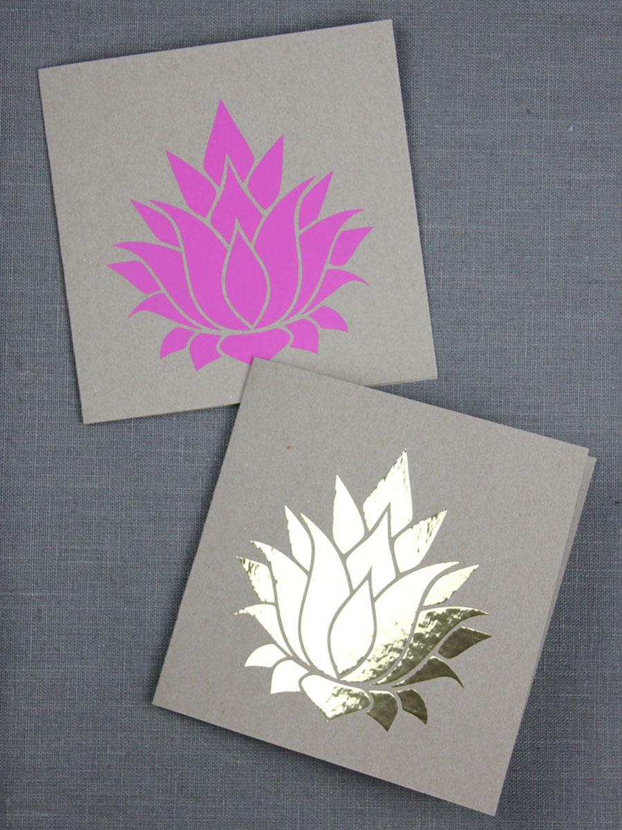 Lotusblüte Plotterfreebie