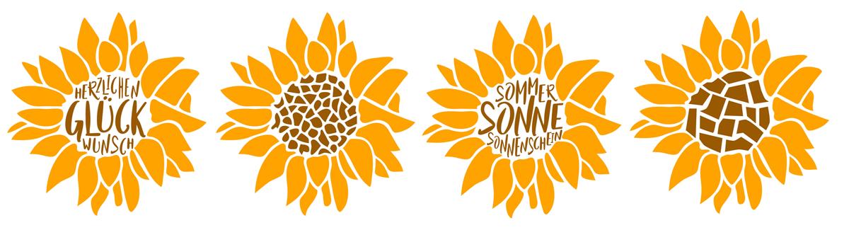 Sonnenblume Plotterfreebie