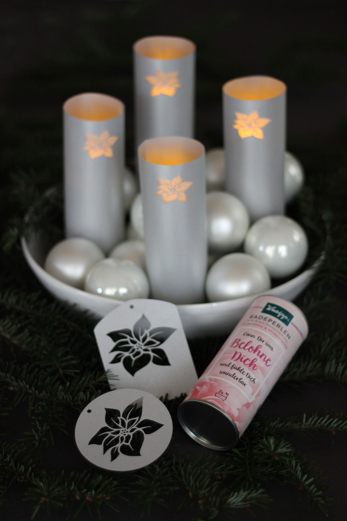Upcycling-Adventskranz mit Kneipp® Badeperlen