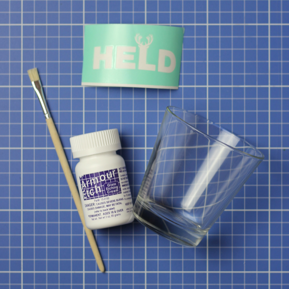 Geätztes Glas: Materialien & Werkzeuge