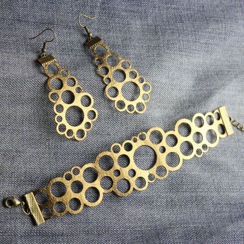 Plotterfreebie für Schmuck-Set: Armband & Ohrringe aus SnapPap