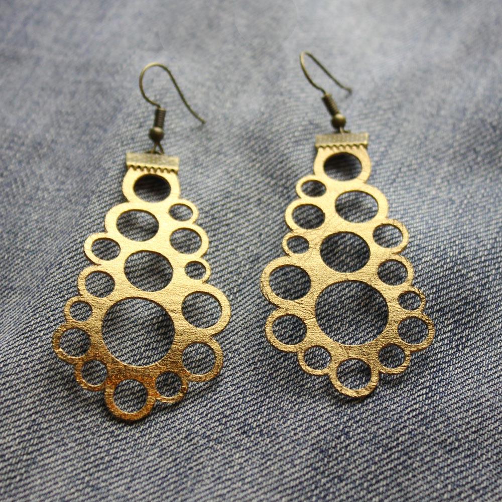 Plotterfreebie Ohrringe aus SnapPap bronze