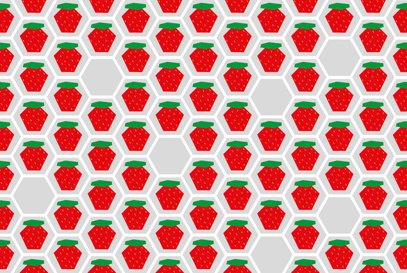 Muster-Erdbeere