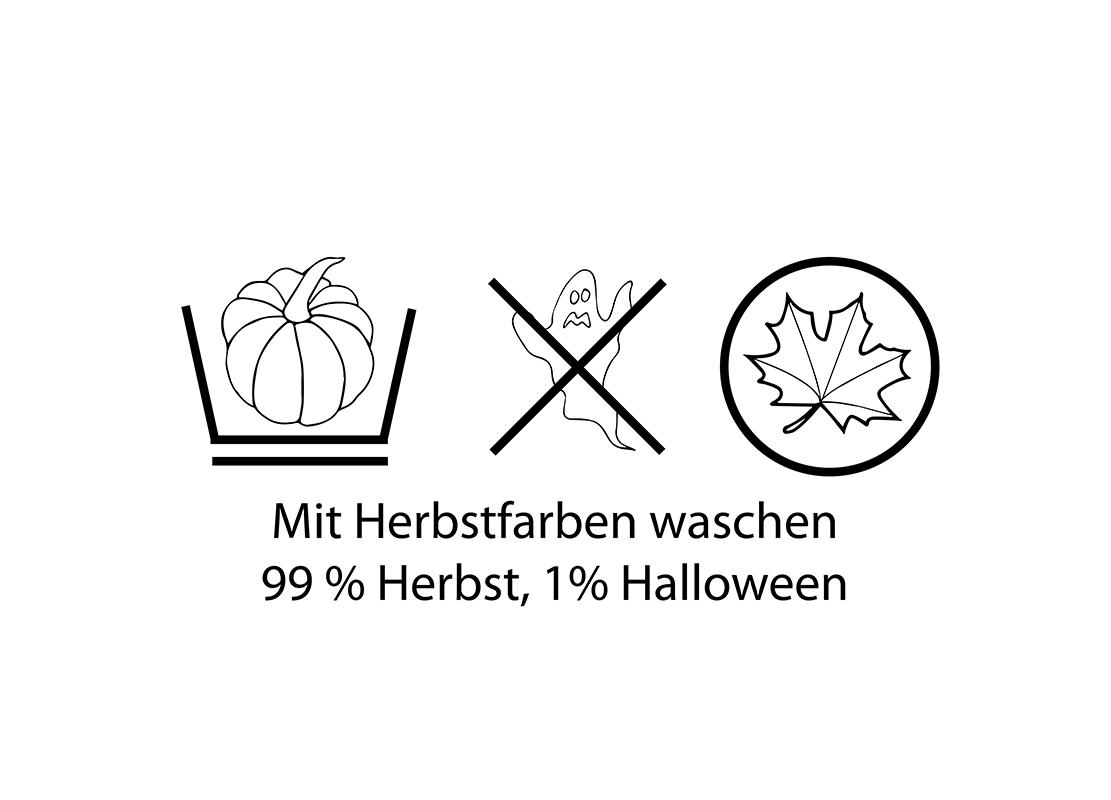 """Free Printable """"99 % Herbst, 1 % Halloween"""""""