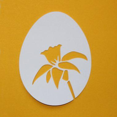 Osterglocken und Narzissen - Plotterfreebie