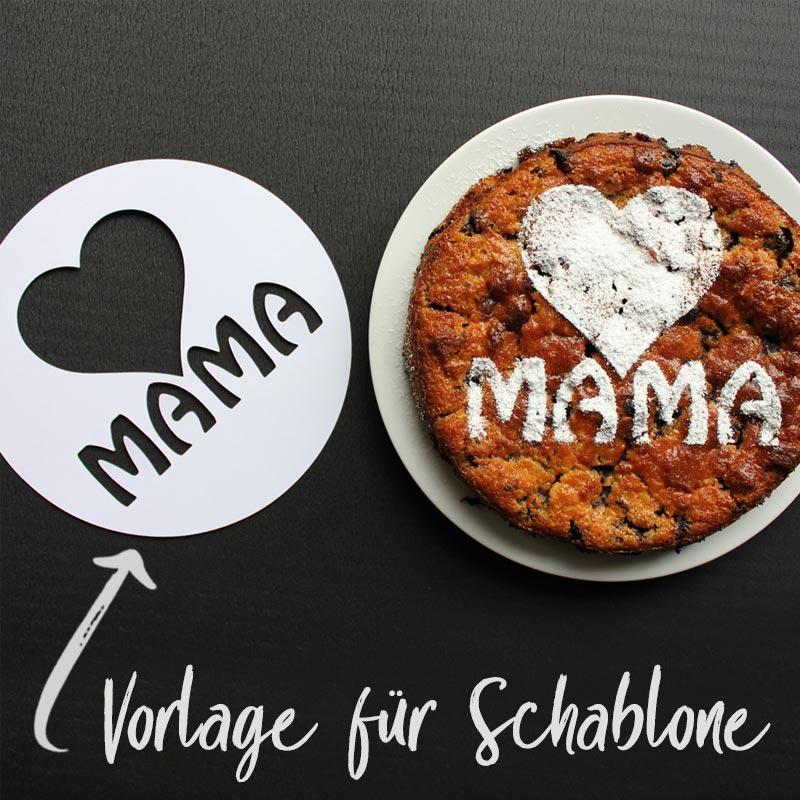 Vorlage für Puderzucker-Schablone für Muttertags-Kuchen