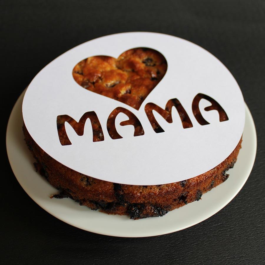Wiederverwendbare Schablonen zum problemlosen perfekten Dekorieren von Kuchen