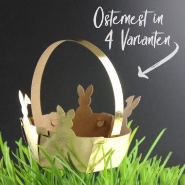 Plotterdatei Osternest und Osterkörbchen