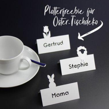 Plotterfreebie Ostertischdeko Tischkärtchen