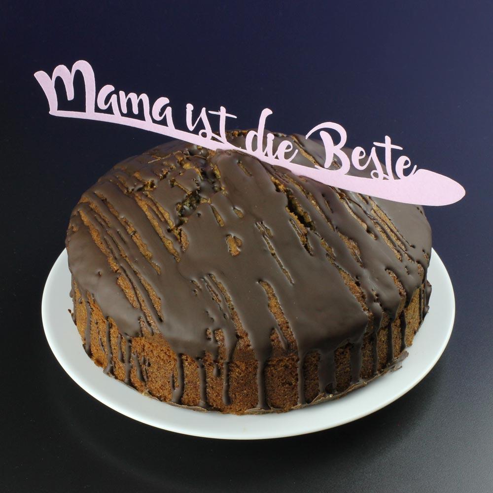 Cake Topper aus Esspapier zum Muttertag