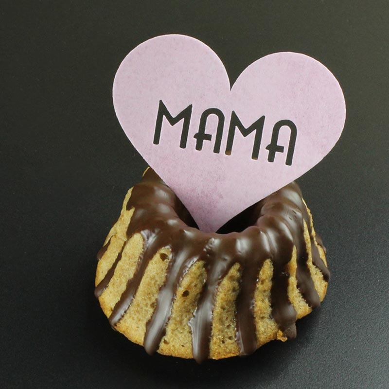 Cupcake-Topper für Muttertag aus Esspapier