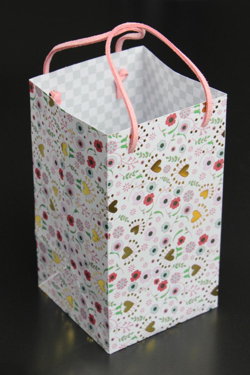 Papiertüte mit Bastelvorlage & Plotterfreebie - als Geschenkverpackung