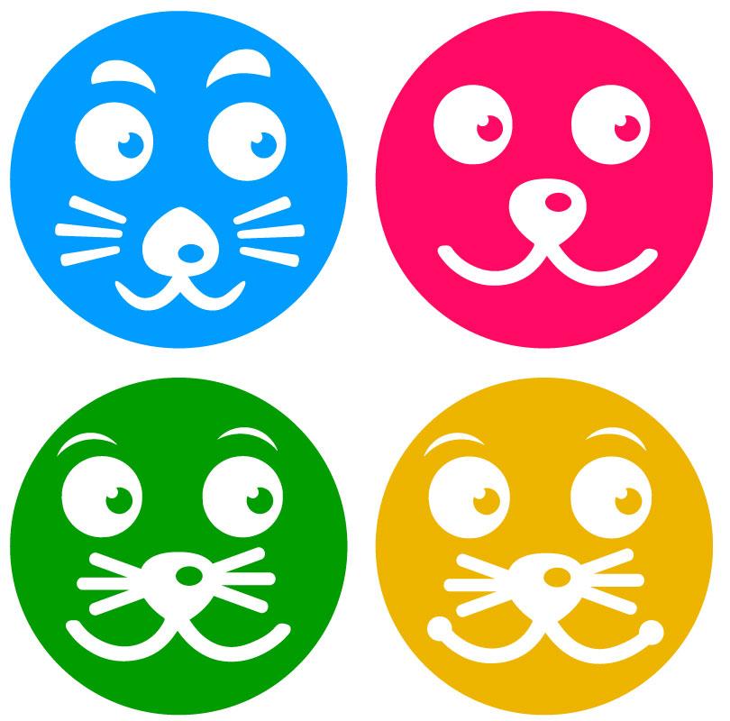 Plotterfreebie Babyrassel Tier-Gesicht-Hund-Katze-Maus-Löwe