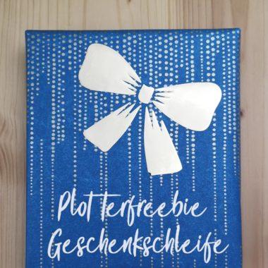 Plotterfreebie Geschenkschleife