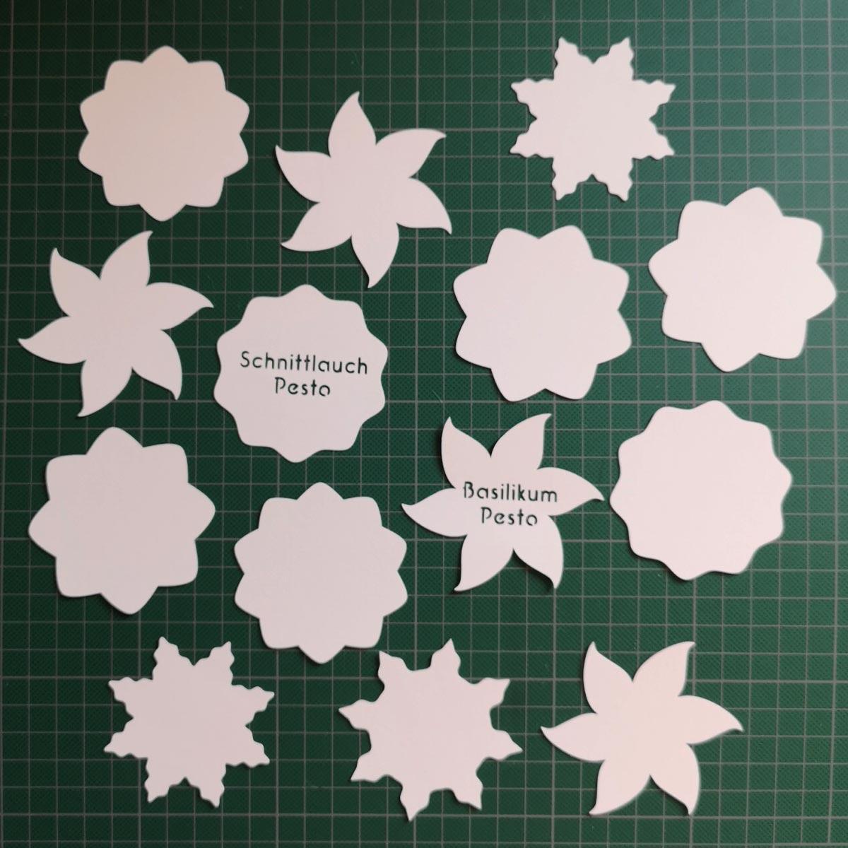 6 verschiedene Etiketten-Vorlagen für Schneideplotter