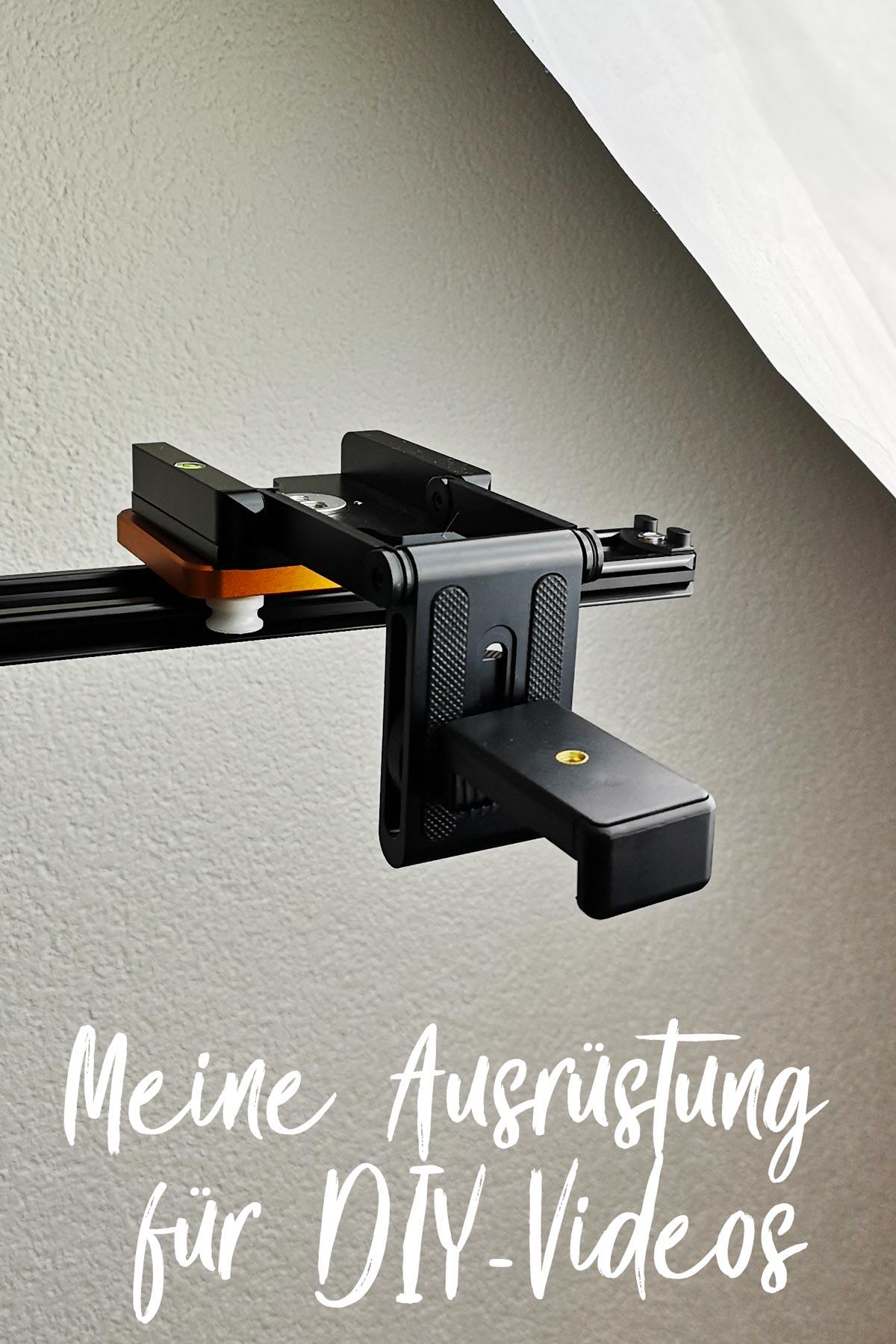 Meine Video-Aufbau: die Klemmhalterung vom einem kleinen Smartphone-Stativ an einen Z-Schwenkkopf schrauben