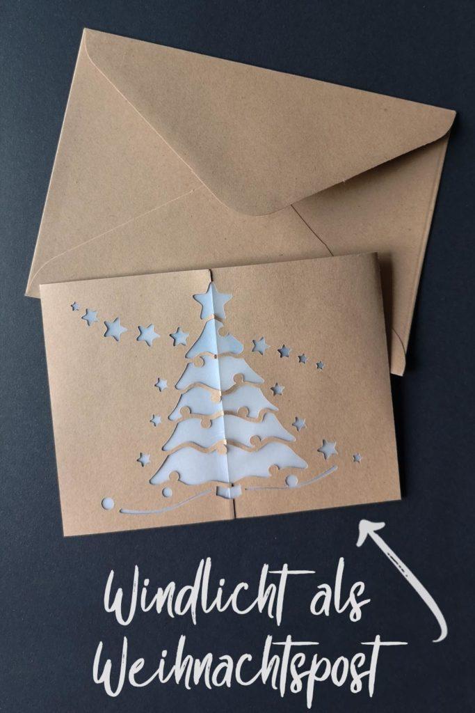 Windlicht als Weihnachtspost