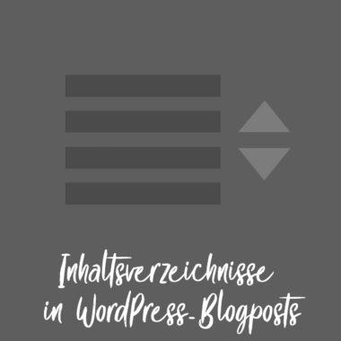 Inhaltsverzeichnisse WordPress Plugin