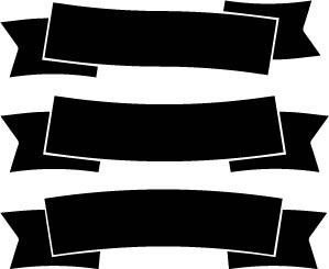 Plotterfreebie für Etiketten in Form von Banderolen - SVG + DXF