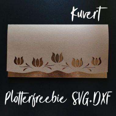 Plotterfreebie für Kuvert / Gutscheinverpackung mit Tulpen