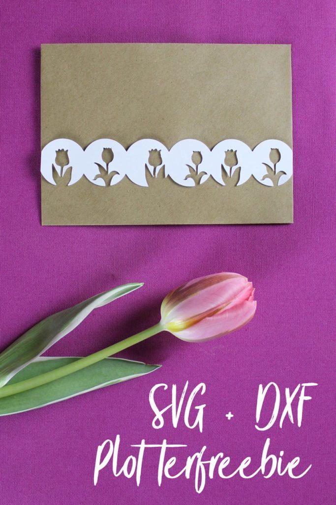 Tulpen-Girlande Plotterfreebie SVG und DXF