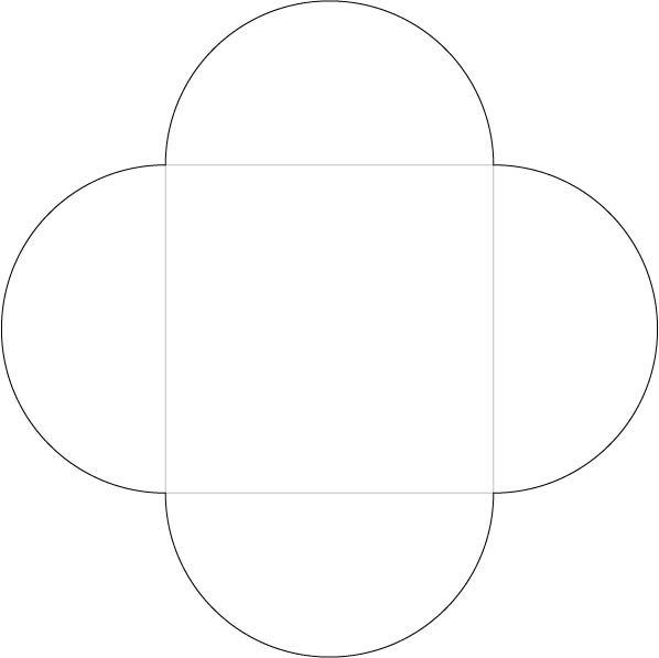 Kuvert für Geldgeschenk basteln: die grauen Linien falten, die schwarzen Linien schneiden
