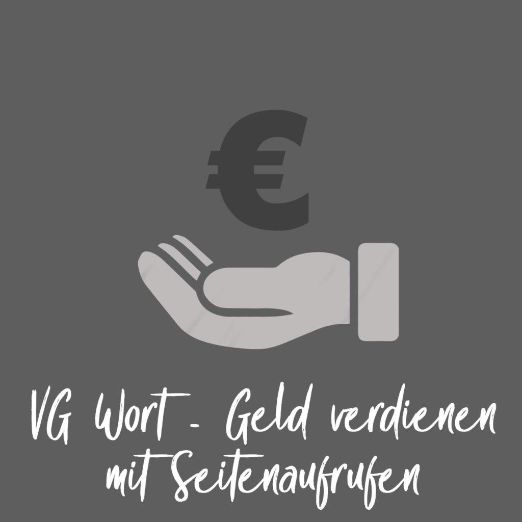 VG Wort - Geld verdienen mit Seitenaufrufen