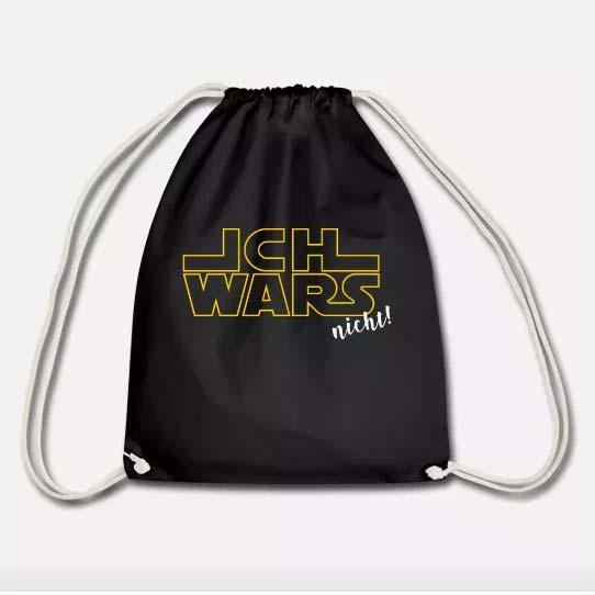 """In meinem Spreadshirt-Shop gibt es """"ICH WARS nicht!"""" für Star-Wars-Fans auf Shirts, Hoodies, Turnbeuteln und Taschen"""