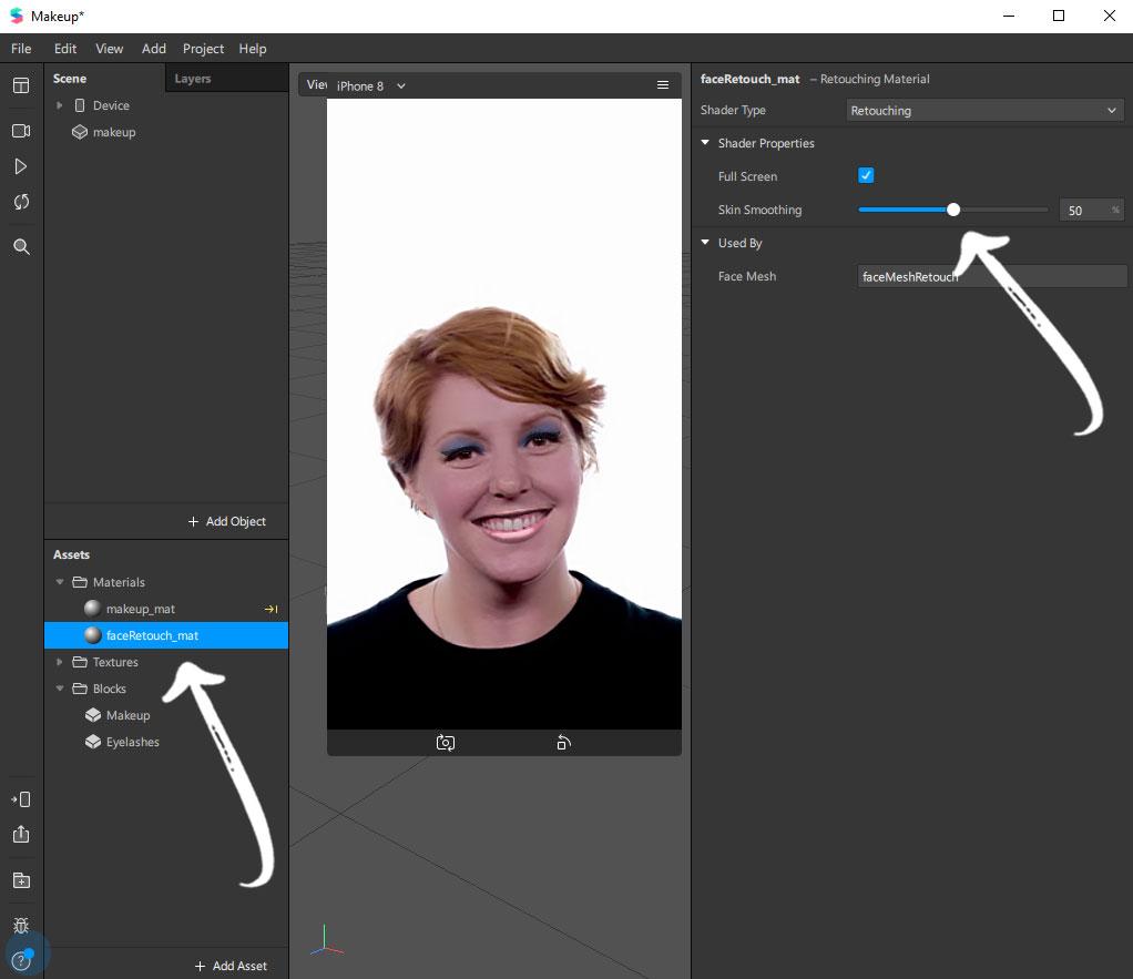 Instagram Filter mit Spark AR erstellen: Weichzeichner definieren
