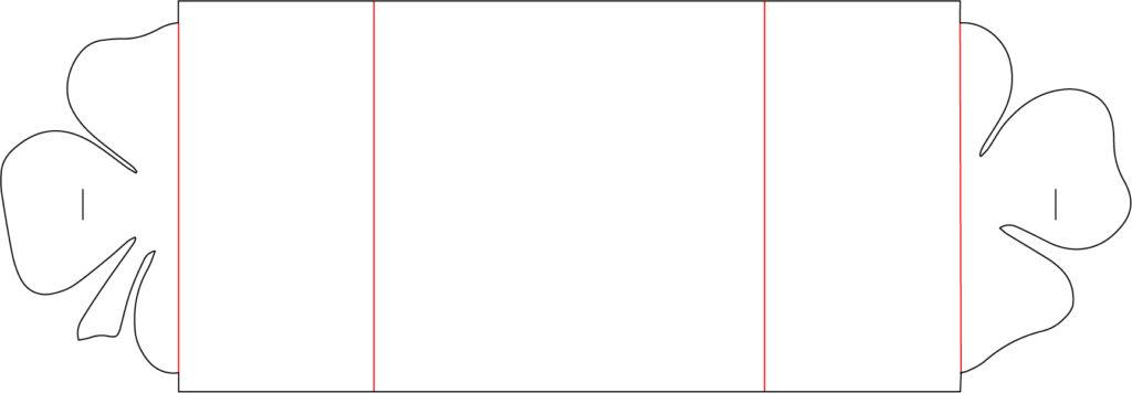 Bastelvorlage und Plotterfreebie für Klappkarte mit Kleeblatt