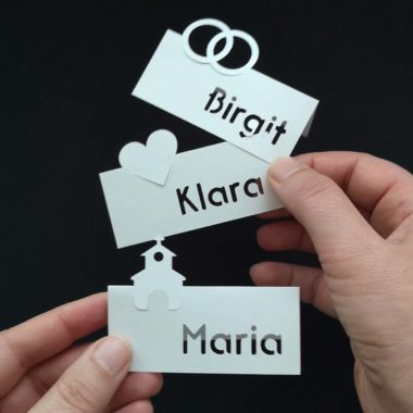 Plotterfreebie Hochzeits-Tischkarten