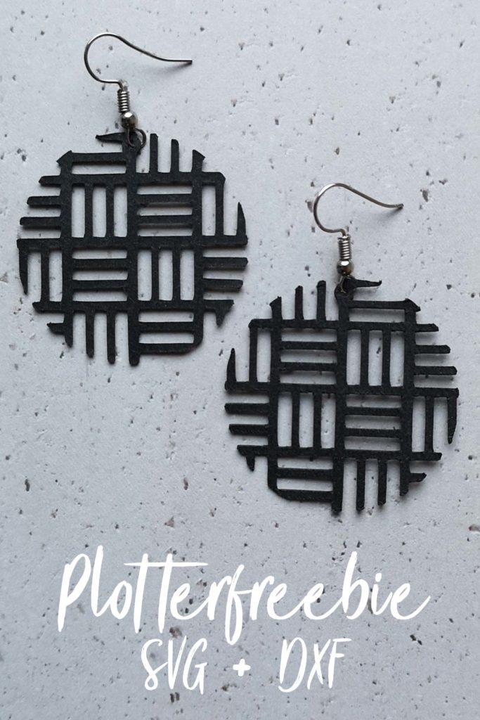 Plotterfreebie SVG + DXF für Ohrringe aus SnapPap / Nähpappe / Kunstleder